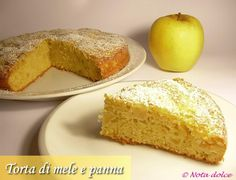 Torta di mele e panna, ricetta dolce