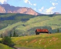 Mountain Cabin by Marc Hanson Oil ~ 8 x 10