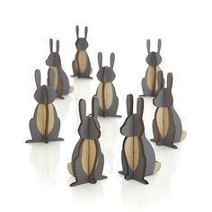 I could actually make these! DIY!! Set of 8 Woodland Bunnies | Crate and Barrel