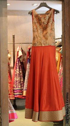Coral and gold.. #JADEbyMK #colour #ss13 #India #style