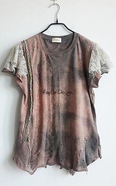 Reserved listing for 'jetta916' - Tattered t-shirt / upcycled t-shirt / shredded tshirt