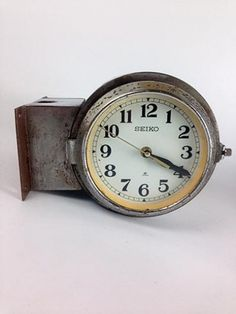 vintage polished extrawide doublesided shipu0027s clock ex vat