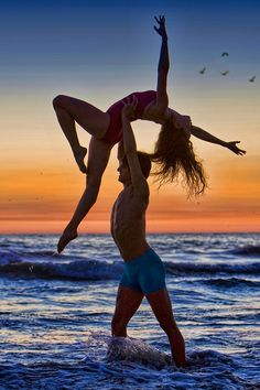 Ballet Dancers in the sunset by Richard Calmes