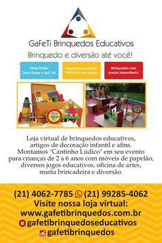 Gafeti Brinquedos Educativos  Frete grátis Zona Oeste e Sul da cidade do Rio de Janeiro. Levamos o brinquedo até você!