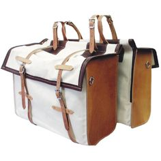 Outfitters Supply Canvas & Leather Panniers (Pair)