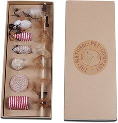 The Natural Pet Company Cat Toys Collection in Gift Box T...