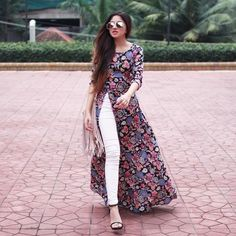 Likes, 91 Comments - Aashna Shroff Kurta Designs, Kurti Designs Party Wear, Blouse Designs, Indian Dresses, Indian Outfits, Western Dresses, Stylish Dresses, Fashion Dresses, Vetement Fashion