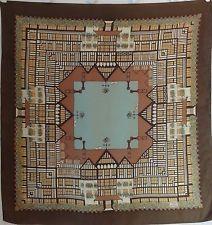 "SILK SCARF LIBERTY OF LONDON ~ England  27"" Square Vintage Designer - 701s07"