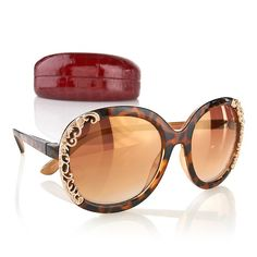 Hot in Hollywood Metallic Scroll Sunglasses, $29.90 HSN, 3 color choices