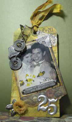 25th wedding anniversary tag
