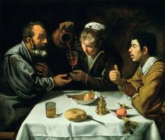 """Peasants at table"" Diego de Velasquez (1618)"