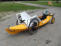 The Recumbent Bicycle and Human Powered Vehicle Information Center Pedal Powered Kayak, Pedal Kayak, Canoe And Kayak, Pedal Cars, Kayak Wheels, Electric Trike, Recumbent Bicycle, Power Bike, Diy Boat