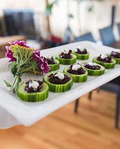 Cucumber and sun dried tomato wedding appetizers - Candidly Beth Photography Wedding Appetizers, Lgbt Wedding, Sun Dried, Mini Cupcakes, Cucumber, Desserts, Recipes, Photography, Food