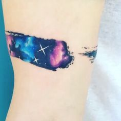 """#Repost @adrianbascur ・・・ Brush galaxy #tattoo #tatuaje #colors #galaxy #galaxia #ab #space #brush"""