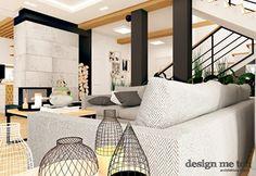 Salon styl Nowoczesny - zdjęcie od design me too Divider, Living Room, Interior Design, Bed, Furniture, Home Decor, Lounges, Projects, Nest Design