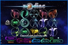 Choose your lucky zodiac sign and join the astrological adventure in the 20-line video slot from Saucify. More at...   http://www.casinocashjourney.com/slots/saucify/zodiac.htm