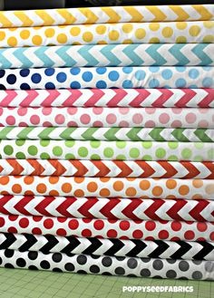 New Ombre Dots and chevrons by Riley Blake