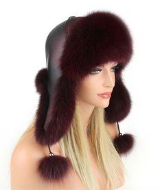 Donna Cappello di Pelliccia Berretto con Pelo Volpe pelle Tappo Aviatore  Inverno 9f6fd3fa5cb1