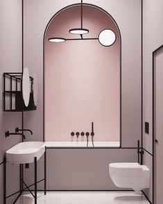 "6,270 kedvelés, 45 hozzászólás – Archiproducts (@archiproducts) Instagram-hozzászólása: ""New residential project by @crosbystudios #bathroom #pink #crosbystudios #Archiproducts"""