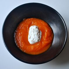 Carrot soup with feta-yogurt and other recipes for everyday family meals #spoonfulness #meal #familydinner #food #bloggerlife