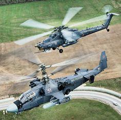 """Kamov """"Ka-52""""'Alligator"""", (""""Hokum-B"""") & Mil """"Mi-28N""""'Night Hunter"""", (""""Havoc"""")."""
