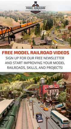 Fresh new model railroading videos, tips & ideas from the experts. Join the FREE Model Railroad Academy newsletter today! N Scale Model Trains, Model Train Layouts, Hobby Desk, Model Railway Track Plans, Old Steam Train, Train Table, Railway Museum, Train Pictures, Ho Trains
