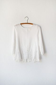 vintage inspired white lace top with buttons