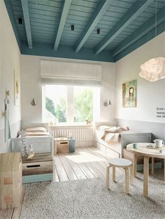 Creatief met verf: gekleurd plafond | 365 Woonideeën