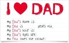 Father's Day Printable letter - cute gift, very cheap!