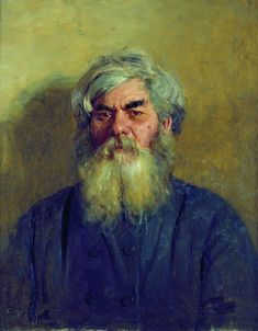 Ilya Repin (1844-1930): A peasant with an evil eye. Portrait of Ivan Fyodorovich Radov, the artist's godfather. Oil on canvas. 60 × 49 cm. The State Tretyakov Gallery, Moscow.