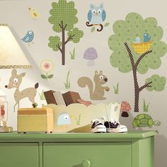 Childrens Wall Stickers - Forest Animals 12.55