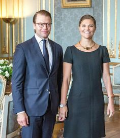Crown Princess Victoria and Prince Daniel looking happy and in love.