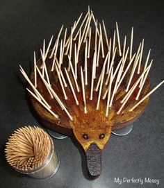 Fine motor skill activity, add toothpicks to build the echidnas spikes - My Perfectly Messy