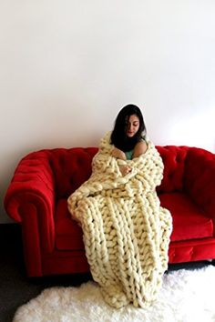 Arm Knit Blanket Pattern and Video Tutorial   The WHOot                                                                                                                                                                                 More