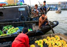 floating in Mekong Delta