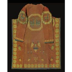 Sogdian split tapestry (Kilim)coat with animal motifs, central asia, 9th/10th century