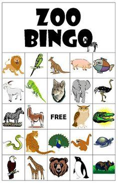 Zoo Bingo - next time we go :)