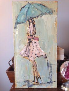 Umbrella Painting, Umbrella Art, Easy Canvas Painting, Abstract Canvas Art, People Art, Figurative Art, Lovers Art, Amazing Art, Watercolor Art