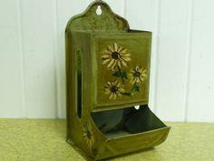 Vintage Matchbox Holder Safe Metal Hand by NewLifeVintageRVs, $16.00