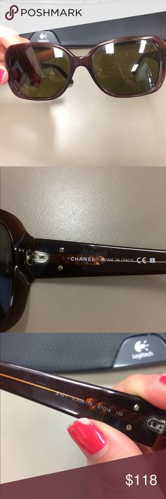 Vintage Chanel sunglasses  100% authentic.  Please read full description as I am tired of people complaining. These have been previously loved. They show clear signs of wear on the lens especially. Also one of side of the Chanel logo is missing the yellow color. However, these are not broken and still wearable. They are style 5101 in brown. These retail for $400+tax. If you have any questions or need further clarification please ask. CHANEL Accessories Sunglasses