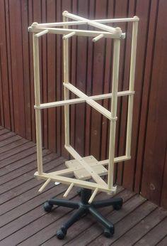 vertical warping mil on desk chair roller bottom