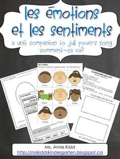Les émotions/sentiments - French Activities for Juli Power French Teaching Resources, Teaching French, Writing Lessons, Teaching Writing, Emotion Words, Teaching Procedures, Emotions Activities, French Worksheets, Emotional Awareness