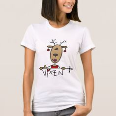 Vixen Reindeer Tshirts and Gifts