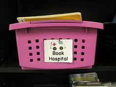 A - B - Seymour: Book Hospital FREEBIE....every class library needs a book hospital!  :)