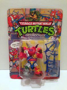 TMNT Vintage Teenage Mutant Ninja Turtles Groundchuck Sealed Action Figure