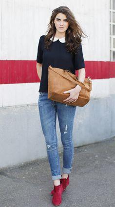 2012 - Les Composantes  by Morgane Sezalory  http://lescomposantes.com/  Polka blouse and sailor bag
