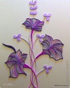 Painting mural drawing Paper Quilling Morning Glory band photo 1