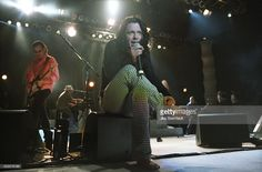 Michael Hutchence of INXS performs at the Greek Theatre in Los Angeles, California on July 11, 1997.