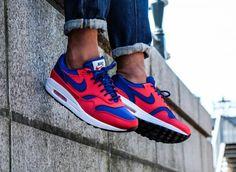 meet 54f31 28bd4 Nike Air Max 1 SE -  Satin Pack  Uni Red   Deep Royal Blue