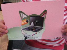 magazine collage cats